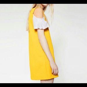 Zara spring dress cold shoulder NWT Sz Med